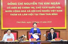 NA Chairwoman asks Thai Binh to improve business climate