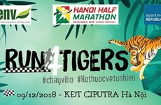 Run for tigers to take place in Hanoi next month