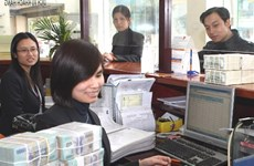 Reference exchange rate rises at week's beginning