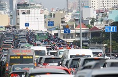 HCM City steps up patrols to reduce traffic congestions