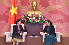 NA leader welcomes head of Lao State Audit Organisation