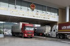 Border gates in Lao Cai province break trade record