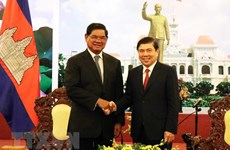 HCM City leader hosts Cambodian Deputy PM