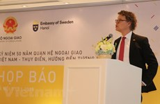 Press conference marks 50 years of Vietnam-Sweden ties
