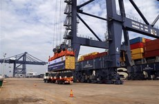 Ba Ria - Vung Tau receives world's large container ship