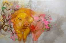 Painting exhibition welcomes Year of the Pig