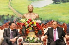 Lao leader receives Ho Chi Minh National Academy of Politics delegation