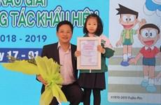 Hanoi first grader wins traffic safety slogan contest
