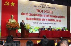Deputy PM directs religious work for 2019