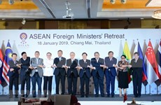 ASEAN foreign ministers discuss intra-bloc cooperation issues