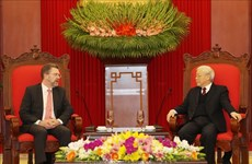 Party, State leader welcomes Australian Senate President