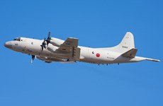 Japanese navy airplanes visit HCM City