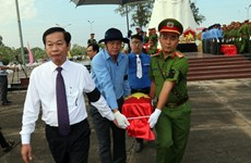 Reburial service for remains of fallen soldiers held in Kien Giang