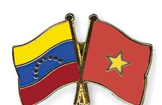 Vietnamese people stand side by side with Venezuelans