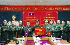 Office equipment handed over to Lao border guards