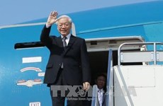 Top Vietnamese leader leaves Hanoi for visits to Laos, Cambodia