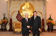 Party General Secretary, President meets former leader of Laos