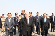 Leader starts state visit to Cambodia