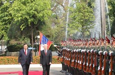 Vietnam's top leader sends message of thanks to Laos over warm welcome