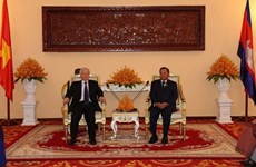 Top leader meets with Cambodia's Senate, NA Presidents
