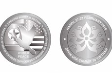 Silver coins issued to celebrate DPRK-USA summit