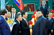DPRK Chairman arrives at Dong Dang Station, beginning Vietnam visit