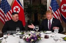 US, DPRK leaders have dinner following talks