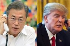 Trump calls RoK leader on summit outcomes