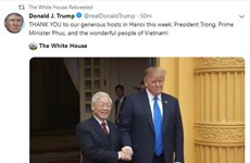 US President thanks Vietnam after DPRK-USA Hanoi Summit