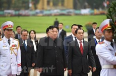 DPRK Chairman Kim Jong-un leaves Hanoi
