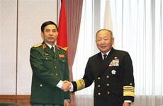 Vietnam, Japan talk stronger defence ties