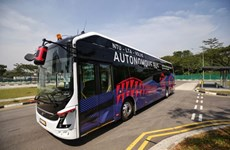 World's first driverless electric bus unveiled in Singapore
