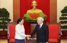 Leader Nguyen Phu Trong hosts Lao top legislator