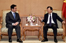 Deputy PM receives leader of Japan bank for international cooperation
