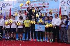 Int'l women's cycling tourney in Binh Duong wraps up