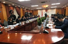 Industry, trade minister meets party chief of Guangxi's Zhuang autonomous region