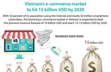 Revenues from e-commerce likely to hit 15 billion USD in 2020