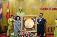 Cambodian legislators visit Ha Nam province
