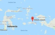 Strong earthquake hits Indonesia's Moluccas Islands