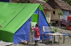 Thousands of kids still homeless six months after Indonesia quake-tsunami