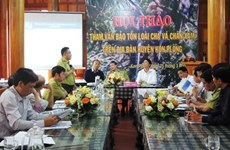 Workshop talks conservation of rare langur in Kon Tum