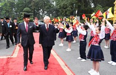President hosts welcome ceremony for Brunei Sultan