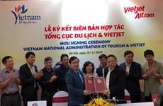 Vietnam National Administration of Tourism, Vietjet sign MoU