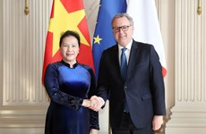 Vietnamese, French top legislators hold talks