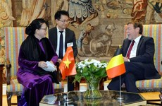 Vietnamese NA Chairwoman meets Belgian lower house leader