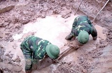 Another napalm bomb collected in Ca Mau province