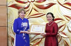 Armenian ambassador honoured with friendship insignia
