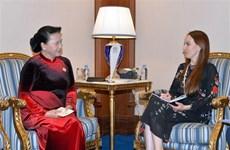 NA Chairwoman meets IPU leader in Doha