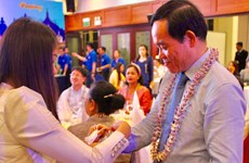 HCM City authorities meet Lao, Cambodian students on New Year festival