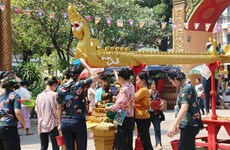 Traditional New Year celebration in full swing in Laos